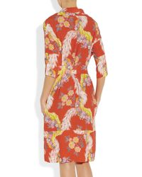 Vivienne Westwood Anglomania - Orange Wuupa Printed Crepe Dress - Lyst