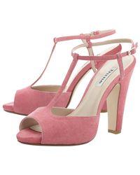 Dune Pink Haggerston Suede Sandals