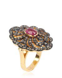 Jade Jagger | Metallic Victorian Ring | Lyst