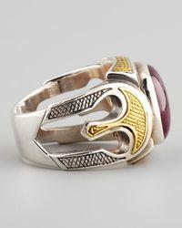 Konstantino   Metallic Ruby Root Ring for Men   Lyst