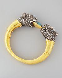 Alexis Bittar | Metallic Cordova Jaguar  Clasp Bangle Bracelet | Lyst