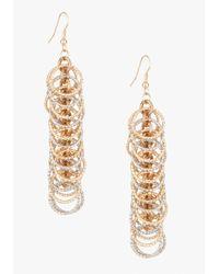 Bebe | Metallic Mini Circle Linear Earrings | Lyst