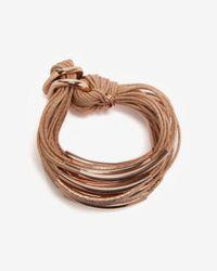 Gillian Julius Metallic Corded Tube Bracelets Rose Gold