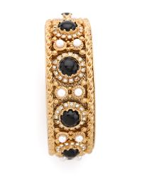 Juicy Couture - Metallic Cabochon Bangle - Lyst