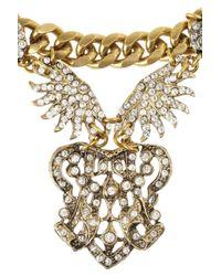 Lulu Frost - Metallic Sunburst Drape Swarovski Crystal Necklace - Lyst