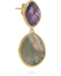 Monica Vinader - Metallic 18karat Goldvermeil Amethyst and Labradorite Earrings - Lyst