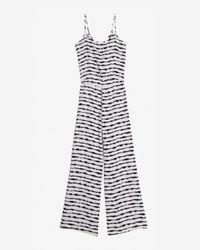 Parker - Black Silk Jumpsuit - Lyst