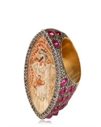 Sevan Biçakci - Red Diamonds and Rubies Gold Ring - Lyst