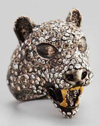 Alexis Bittar Brown Cordova Jaguar Ring