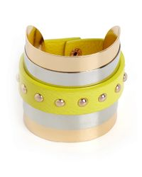 BaubleBar Yellow Lemon Stud Wrap Cuff