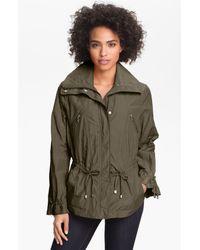 Cole Haan | Green Drawstring Waist Jacket Petite | Lyst