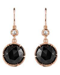Irene Neuwirth - Pink Black Onyx & Diamond Earrings - Lyst