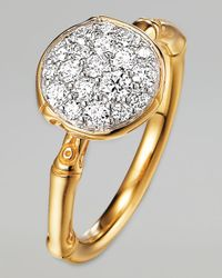 John Hardy | Metallic Bamboo 18k Gold Diamond Round Ring | Lyst