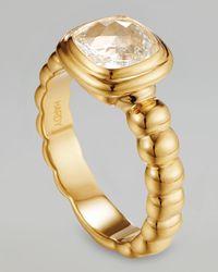 John Hardy Metallic Batu Bedeg 18K Gold White Topaz Ring
