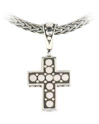 John Hardy - Metallic Dot Cross Pendant - Lyst