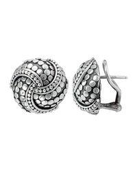 John Hardy - Metallic Dot Twirl Round Earrings - Lyst