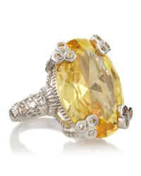 Judith Ripka - Yellow Oval Olivia Ring Size 6 - Lyst