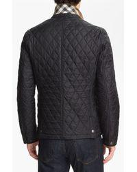 Burberry Brit   Black 'howe' Quilted Jacket for Men   Lyst
