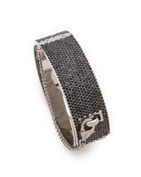 Eddie Borgo - Metallic Pave Safety Chain Cuff - Lyst