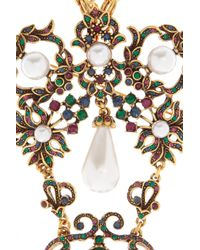 Oscar de la Renta Metallic 24-Karat Gold Plated Crystal Necklace