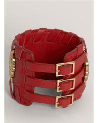 Thomas Wylde | Red Warrior Of Light Leather Bracelet | Lyst