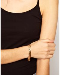 ASOS - Metallic Vintage 90s Slinky Plait Bracelet - Lyst