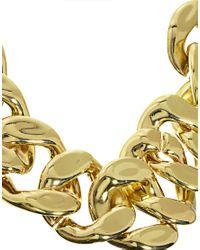 ASOS Metallic Xl Chain Link Necklace