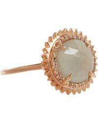 Eva Fehren   Pink Grey Sapphire Champagne Diamond Nina Ring   Lyst