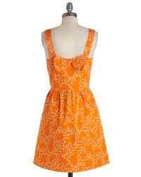 ModCloth - Orange Clustery Day Dress - Lyst