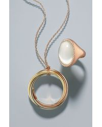 Roberto Coin   Multicolor Long Circle Pendant Necklace - Multi   Lyst