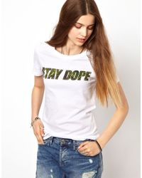 A Question Of White Dope Organic Tshirt Exclusive To Asos