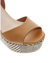 ALDO Brown Taipa Platform Wedge Sandals