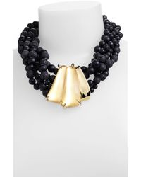 Alexis Bittar | Black Durban Beaded Necklace in Gold | Lyst
