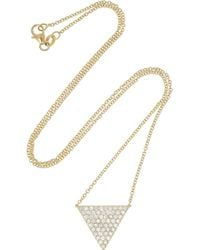 Anita Ko - Metallic Triangle 18karat Gold Diamond Necklace - Lyst