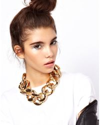 ASOS - Metallic Xl Chain Link Necklace - Lyst