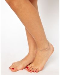 ASOS Metallic Vintage 90s Cross Anklet and Toe Ring Set