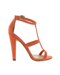 ASOS | Red Hostage Heeled Sandals | Lyst