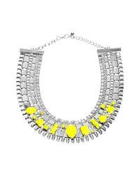 ASOS | Yellow Stone Pharaoh Necklace | Lyst