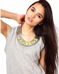 ASOS - Yellow Stone Pharaoh Necklace - Lyst