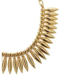 BaubleBar - Metallic Midas Leaf Collar - Lyst