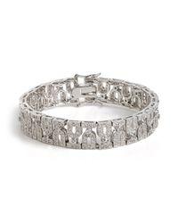 BaubleBar - White Ice Helena Bracelet - Lyst