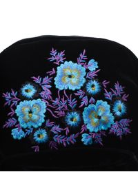 Christopher Kane Blue Embroidered Velvet Backpack