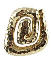 David Webb - Yellow Spiral Hammered Earrings - Lyst