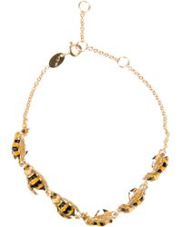Delfina Delettrez - Yellow 'To Be Or Not To Bee' Bracelet - Lyst