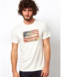 9fb99065848cd Lyst - Ralph Lauren Tshirt with American Flag in White for Men