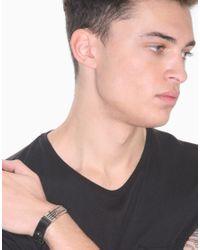 Dolce & Gabbana - Metallic Leather Radiator Cuff Bracelet for Men - Lyst