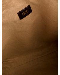 Fendi Brown Logo Print Shopper