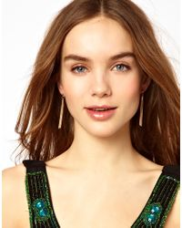 French Connection | Multicolor Snake Chain Tassel Drop Earrings | Lyst