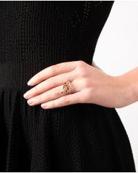 Ileana Makri Metallic 'berus 18k Rose Gold And Diamond Snake Ring