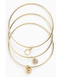 Marc By Marc Jacobs | Metallic Logo Bangle - Gold | Lyst
